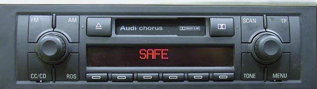 audi a4 магнитола показывает safe