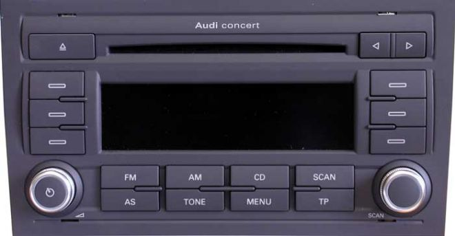 штатная магнитола audi a4 b7 audi concert